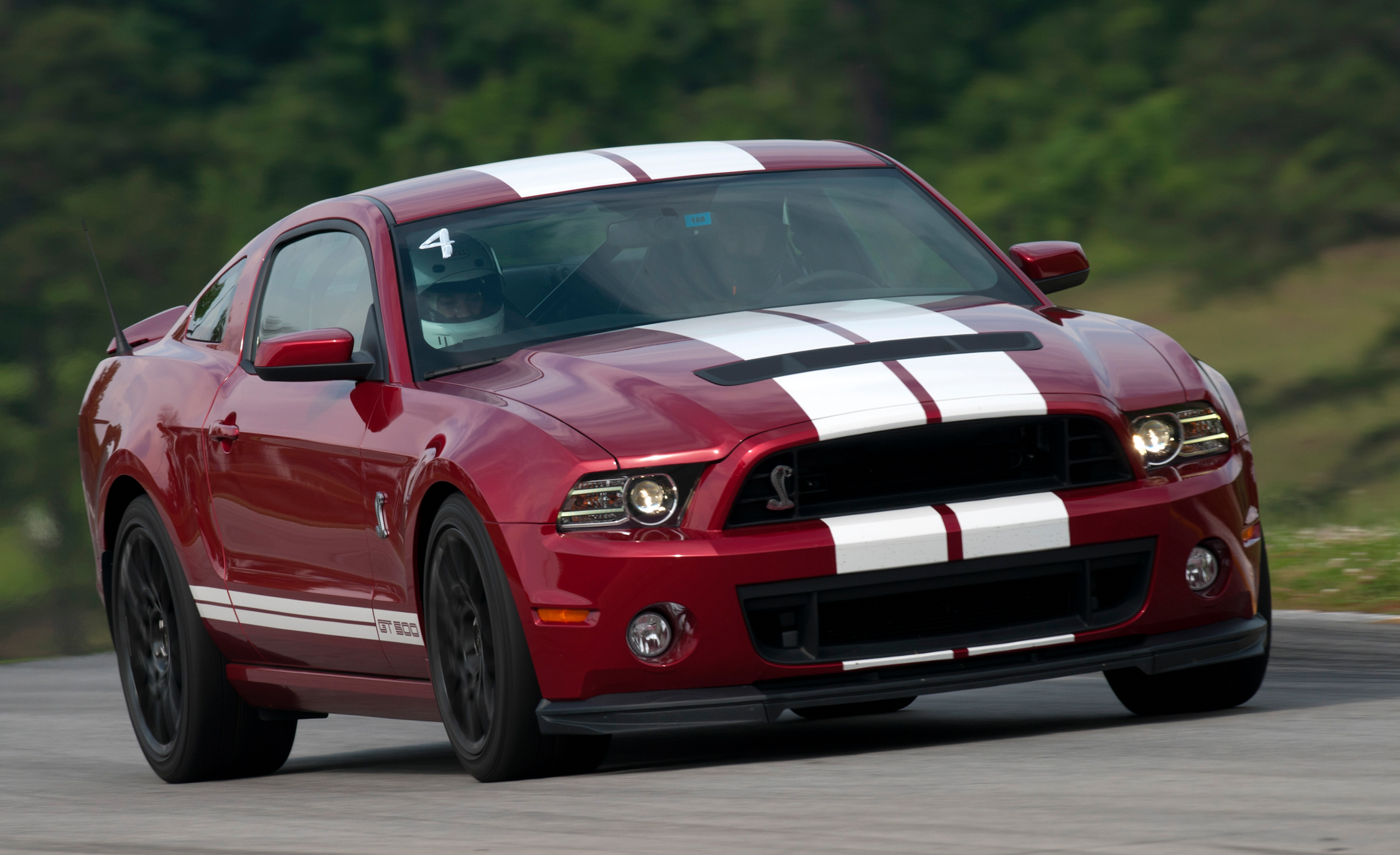 2013 Ford Mustang Shelby GT500 Red Test Drive Front And Side View (Photo 33 of 47)