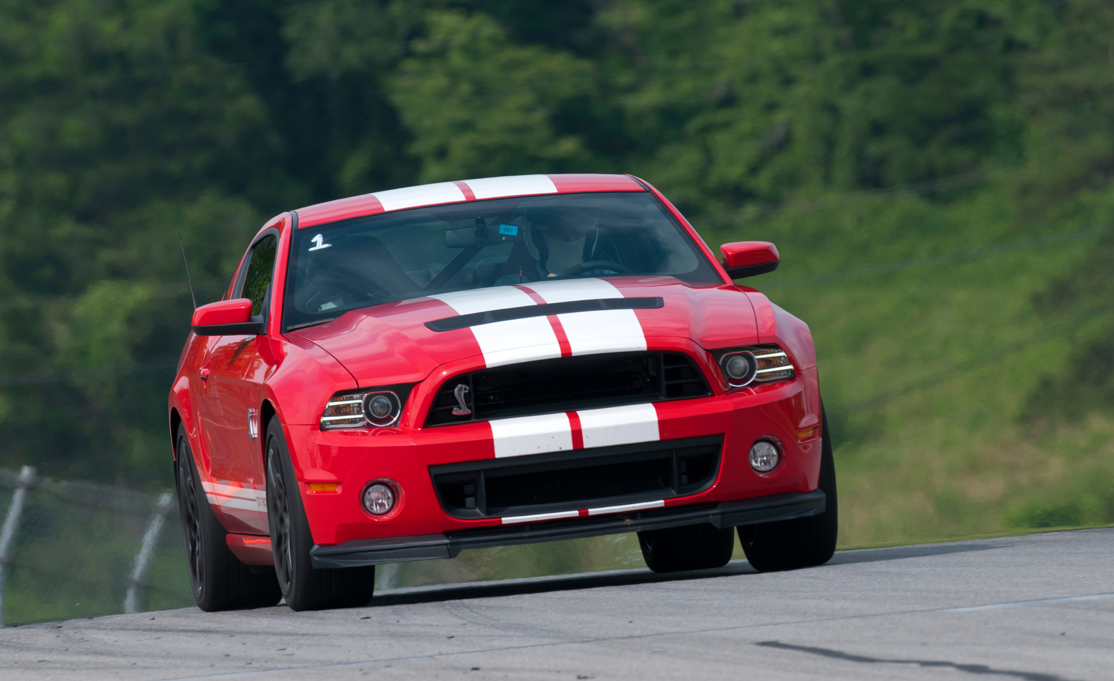 2013 Ford Mustang Shelby GT500 Red Test Drive Front View (Photo 35 of 47)