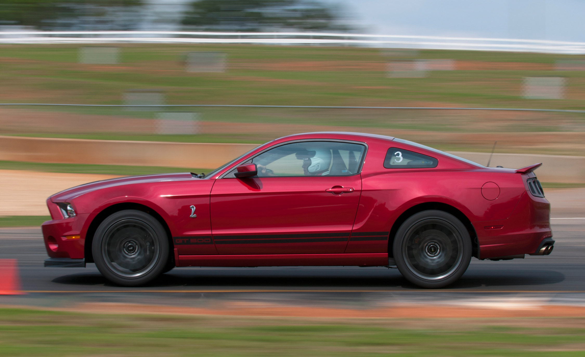 2013 Ford Mustang Shelby GT500 Red Test Drive Side View (Photo 40 of 47)