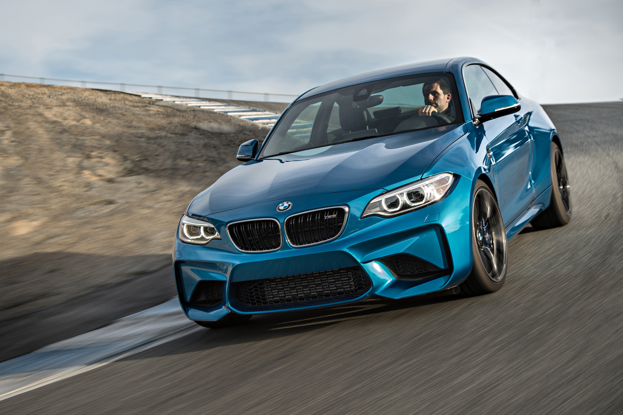 2016 BMW M2 Coupe Blue Metallic Front View (Photo 10 of 61)