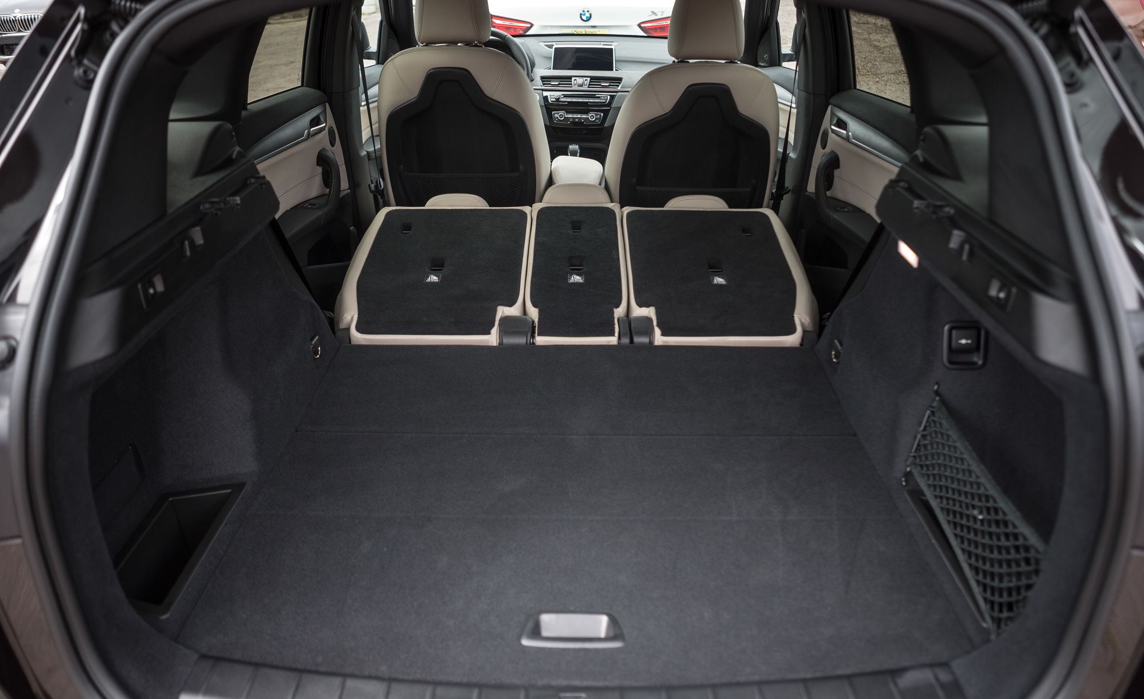 2016 BMW X1 Interior View Cargo Seats Folded Down (Photo 22 of 36)