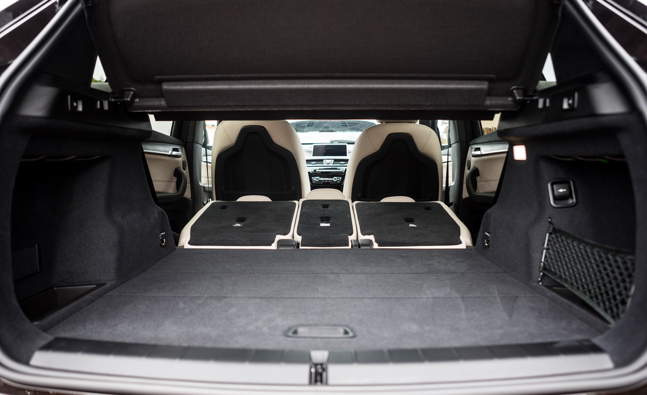 2016 BMW X1 Interior View Cargo Space Seats Folded Down (Photo 24 of 36)