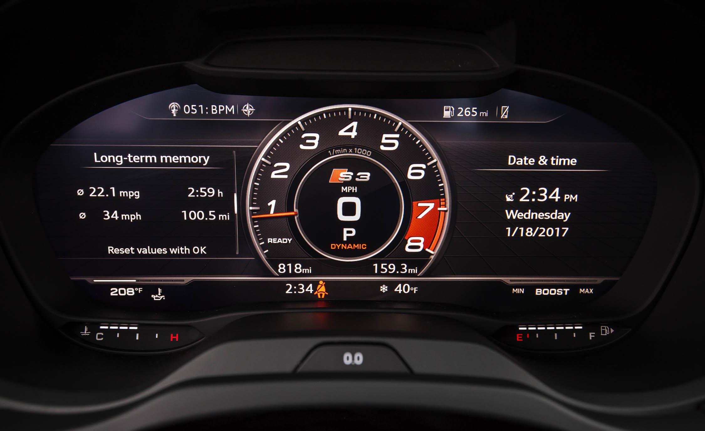 2017 Audi S3 Interior View Speedometer (Photo 44 of 50)