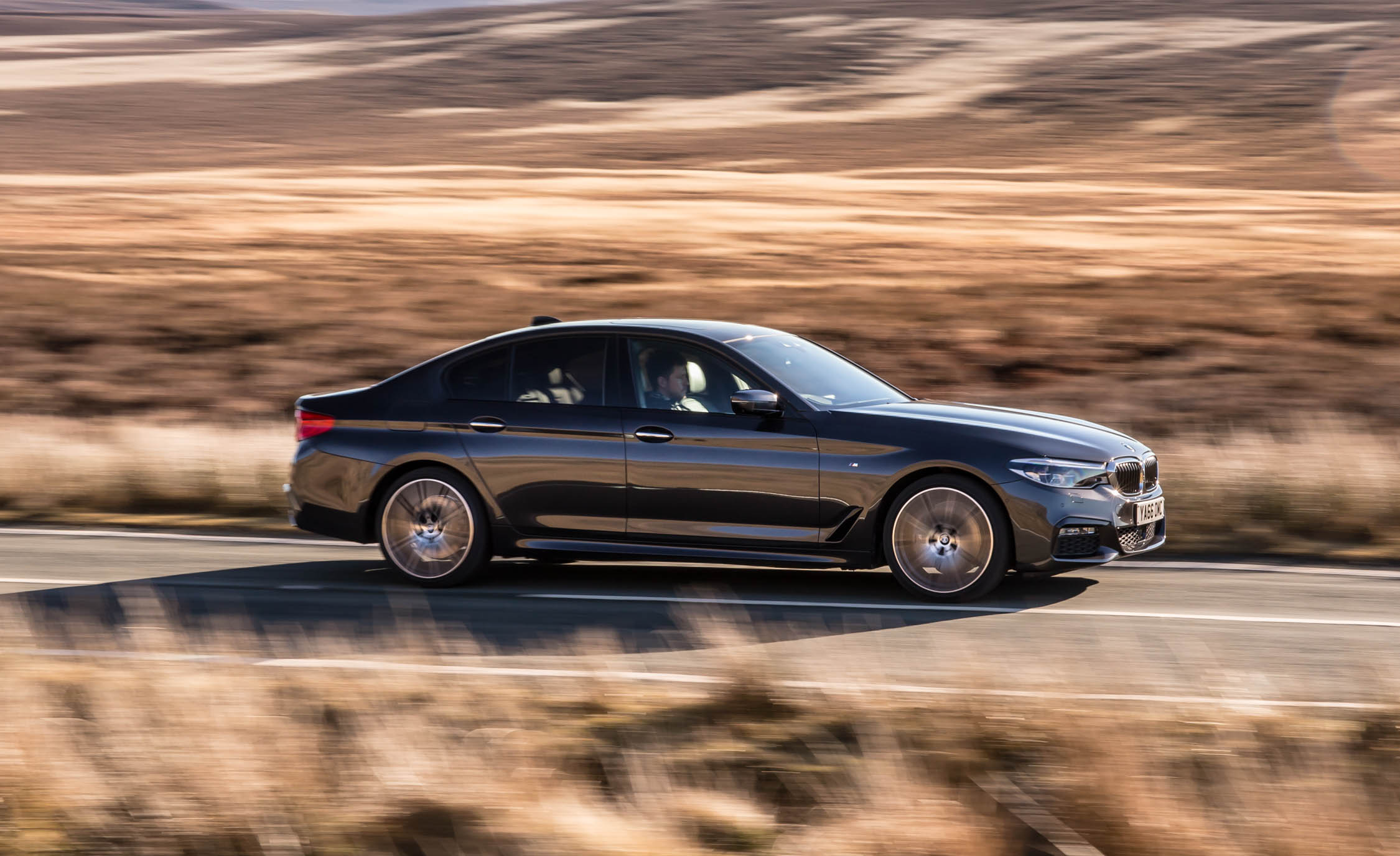 2017 BMW 530d XDrive Test Drive Side And Front View (Photo 3 of 32)