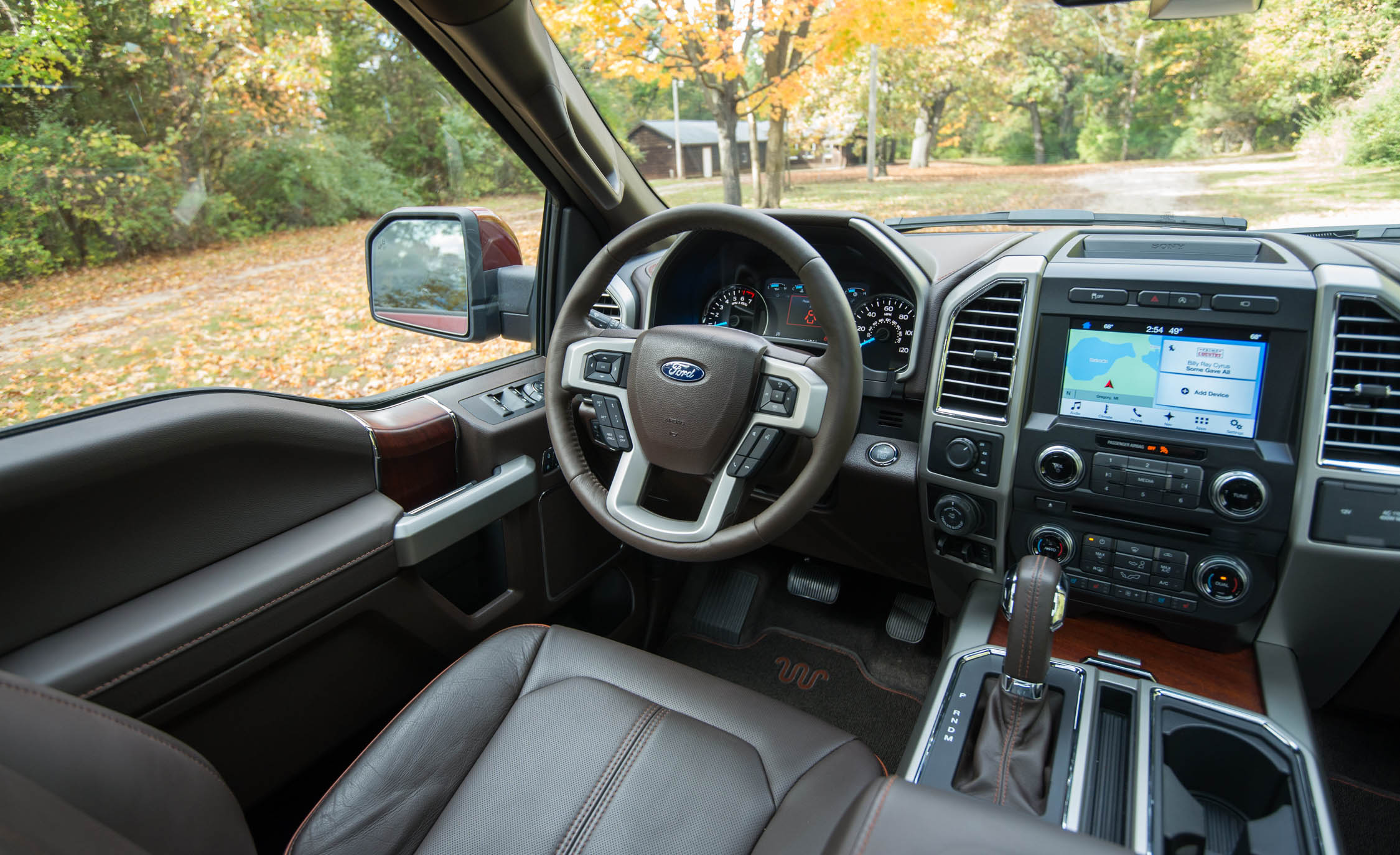 2017 Ford F 150 King Ranch Interior Driver Cockpit (Photo 25 of 50)