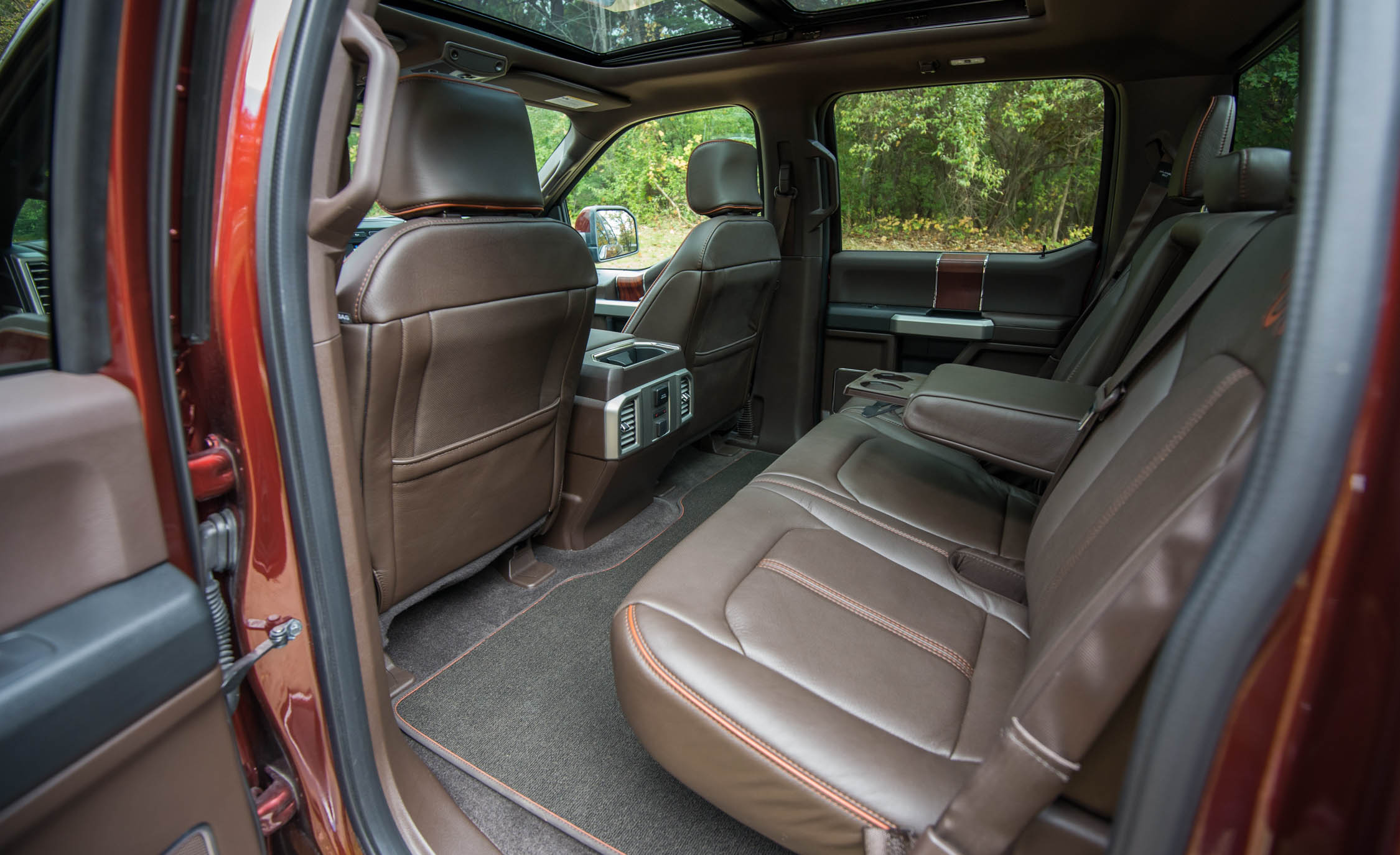 2017 Ford F 150 King Ranch Interior Seats Rear (Photo 34 of 50)