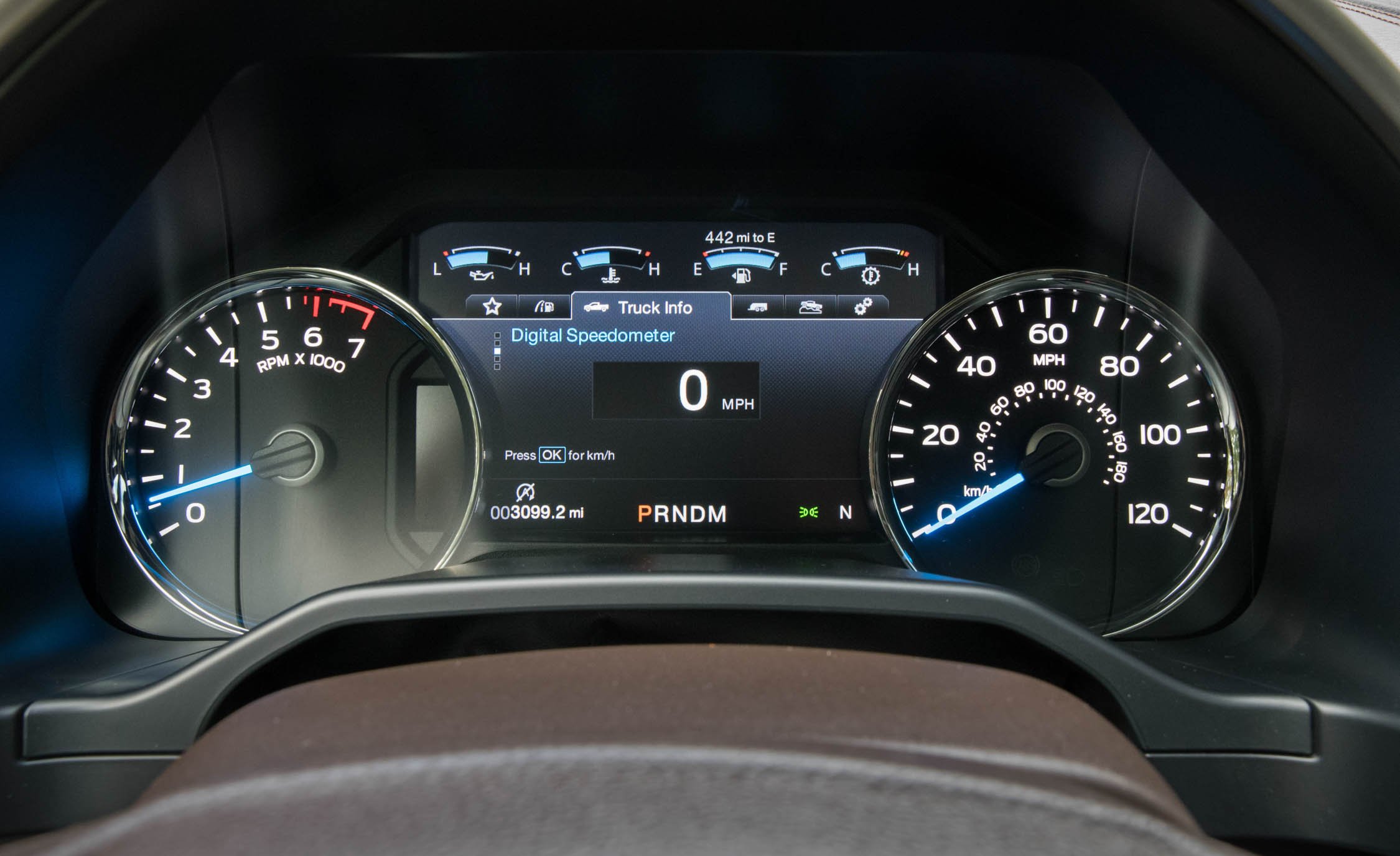 2017 Ford F 150 King Ranch Interior View Speedometer (Photo 8 of 50)