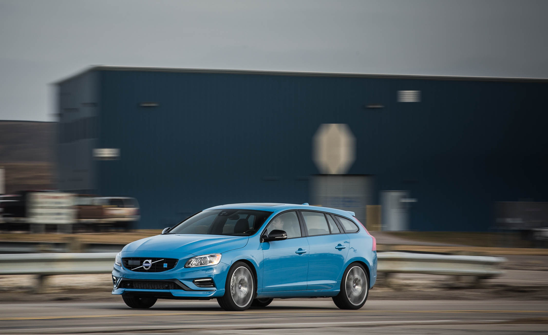 2017 Volvo V60 Polestar Test Drive Front And Side (Photo 45 of 53)