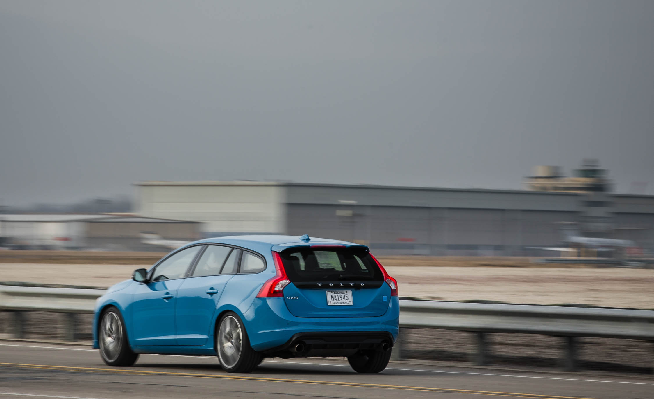 2017 Volvo V60 Polestar Test Drive Rear And Side Preview (Photo 11 of 53)