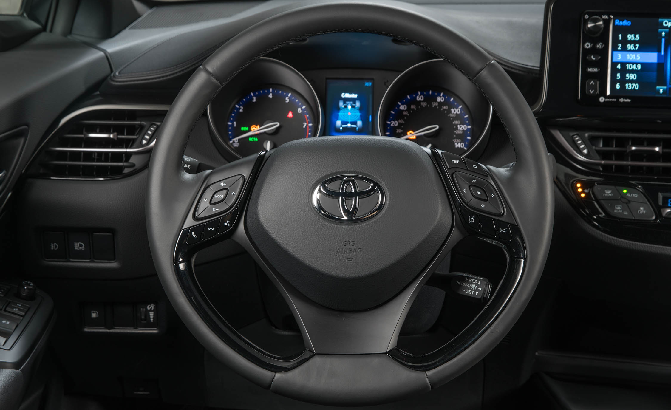 2018 Toyota C HR Interior View Driver Steering Cockpit (Photo 18 of 33)