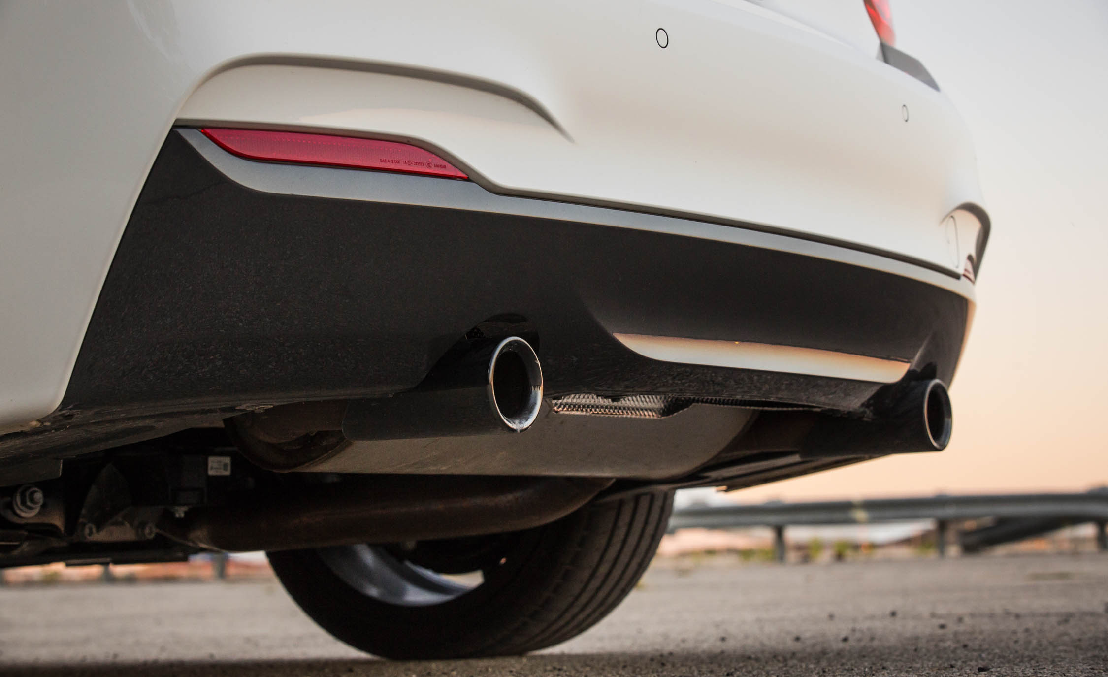 2017 BMW M240i Coupe Automatic Exterior View Rear Bumper And Exhaust Pipe (Photo 25 of 36)