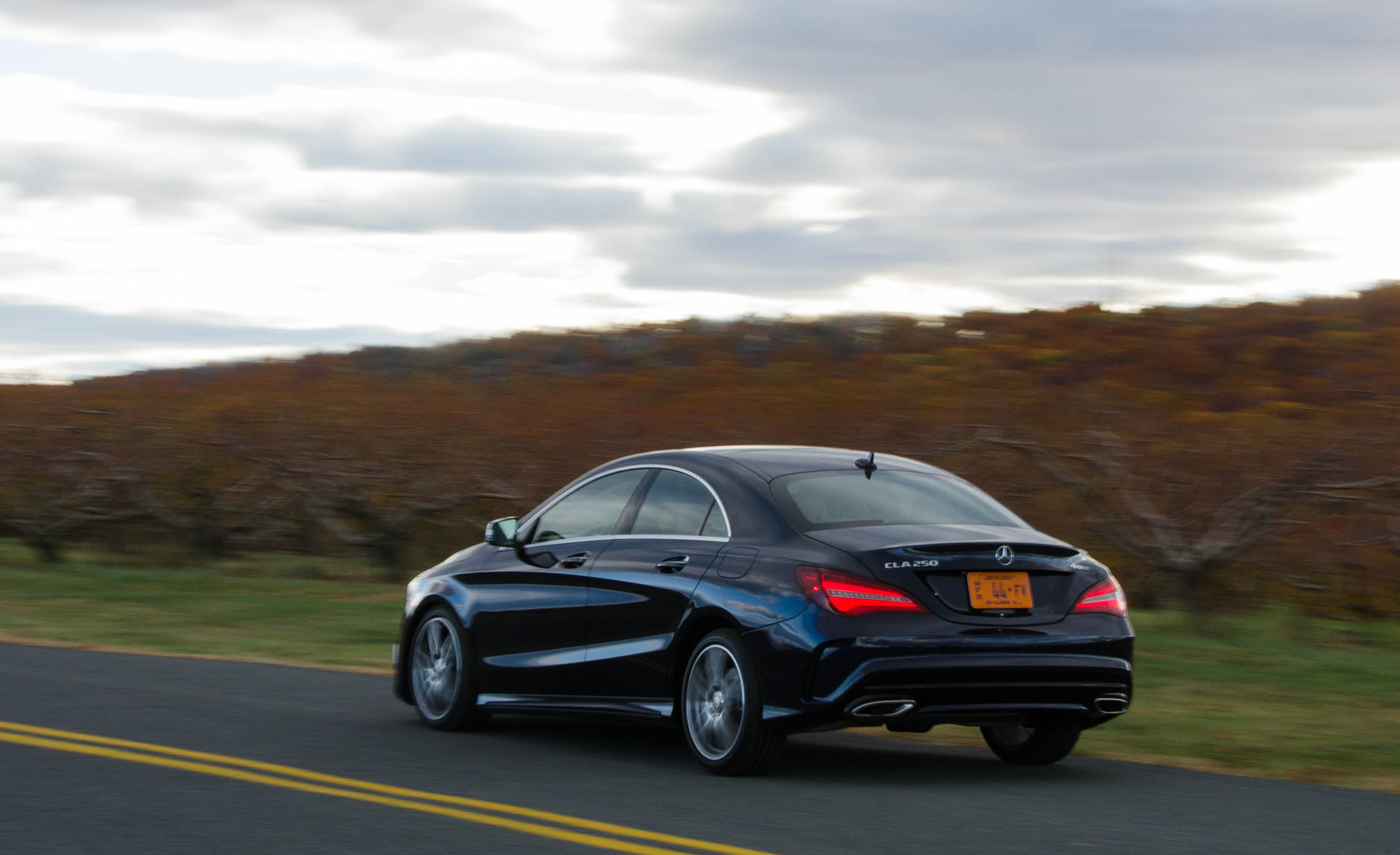 2017 Mercedes Benz CLA250 4MATIC Test Drive Side And Rear View (Photo 7 of 21)