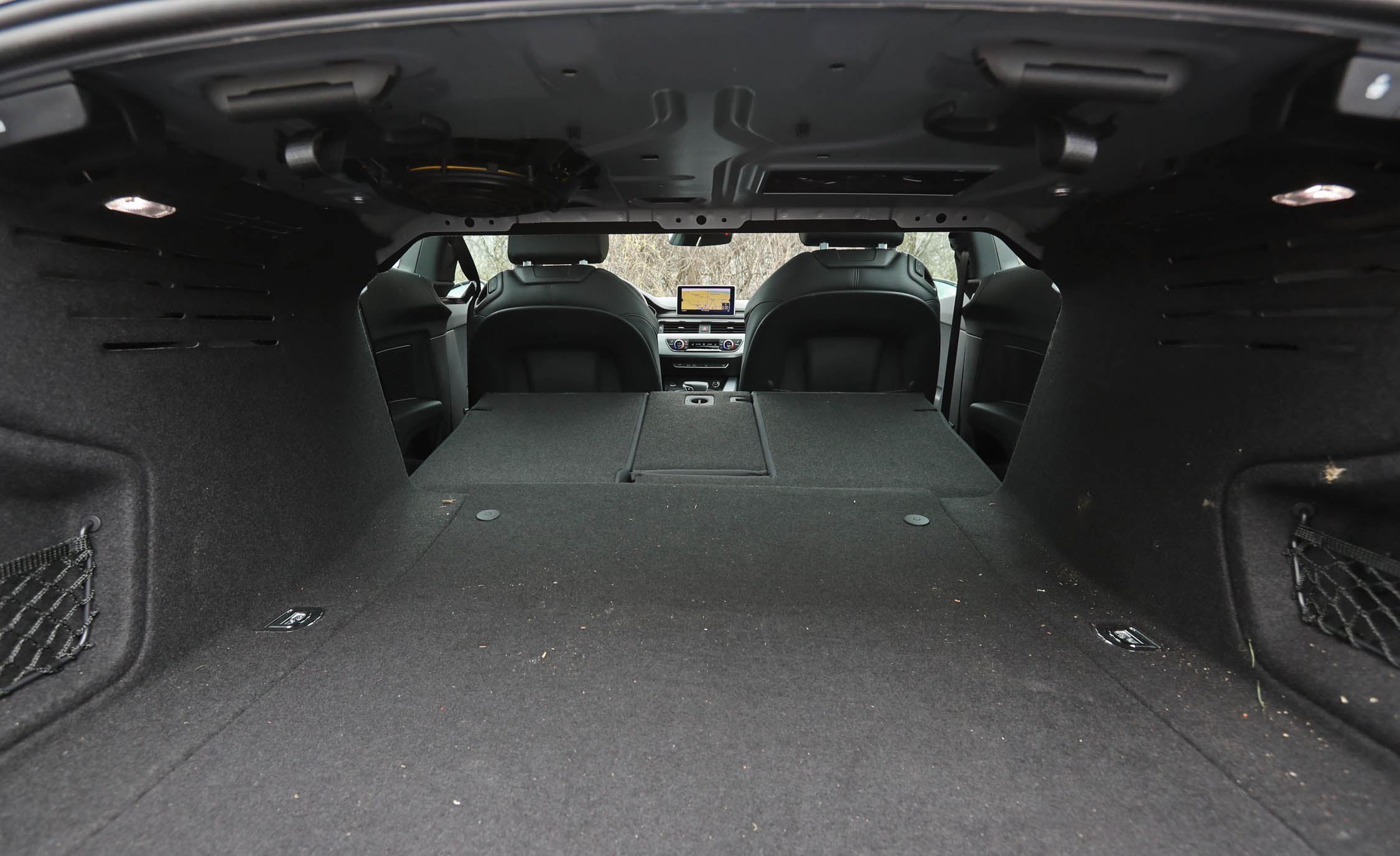 2018 Audi A5 Coupe Interior View Cargo Trunk Seats Folded (Photo 27 of 50)