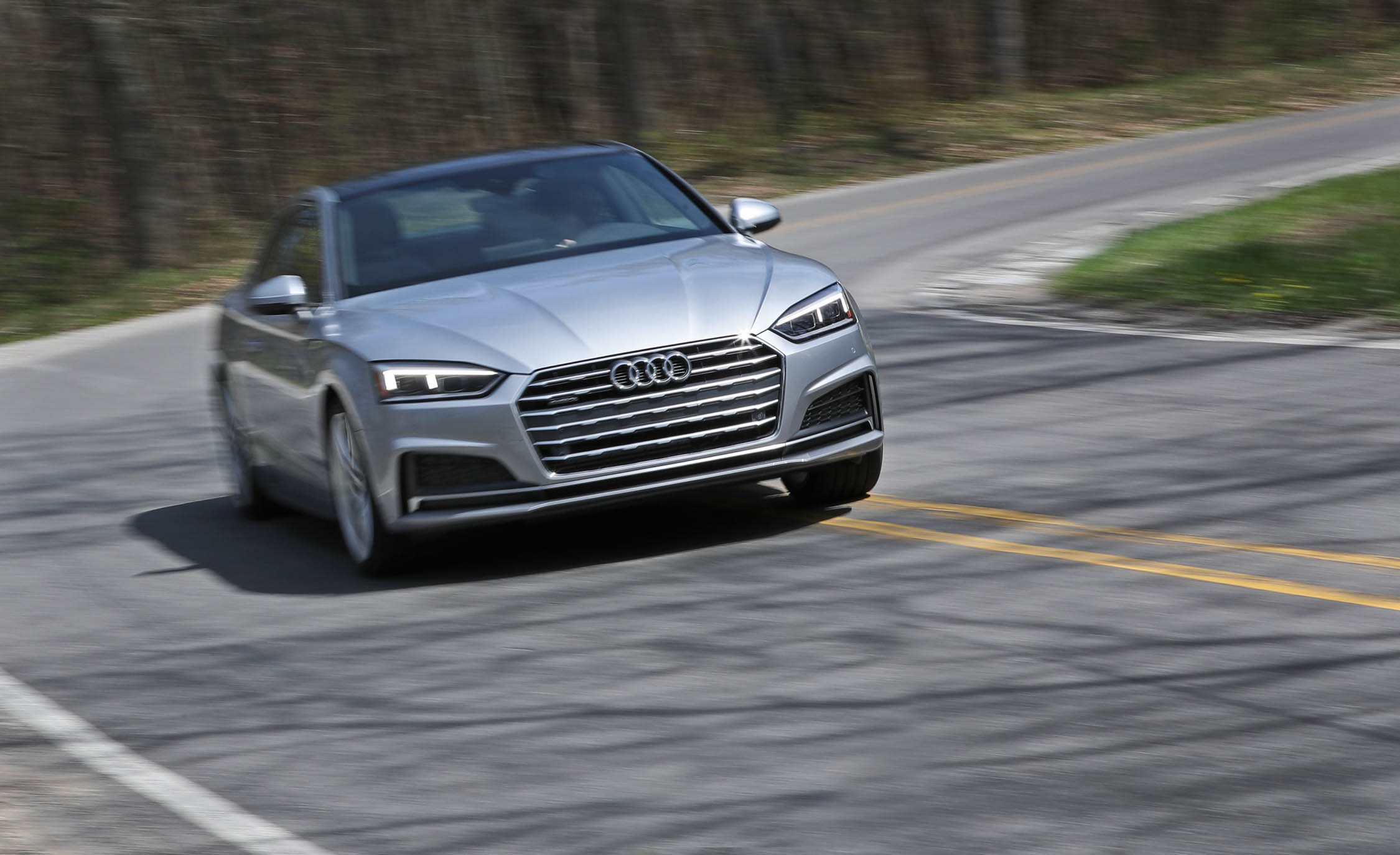 2018 Audi A5 Coupe Test Drive Front Preview (Photo 43 of 50)