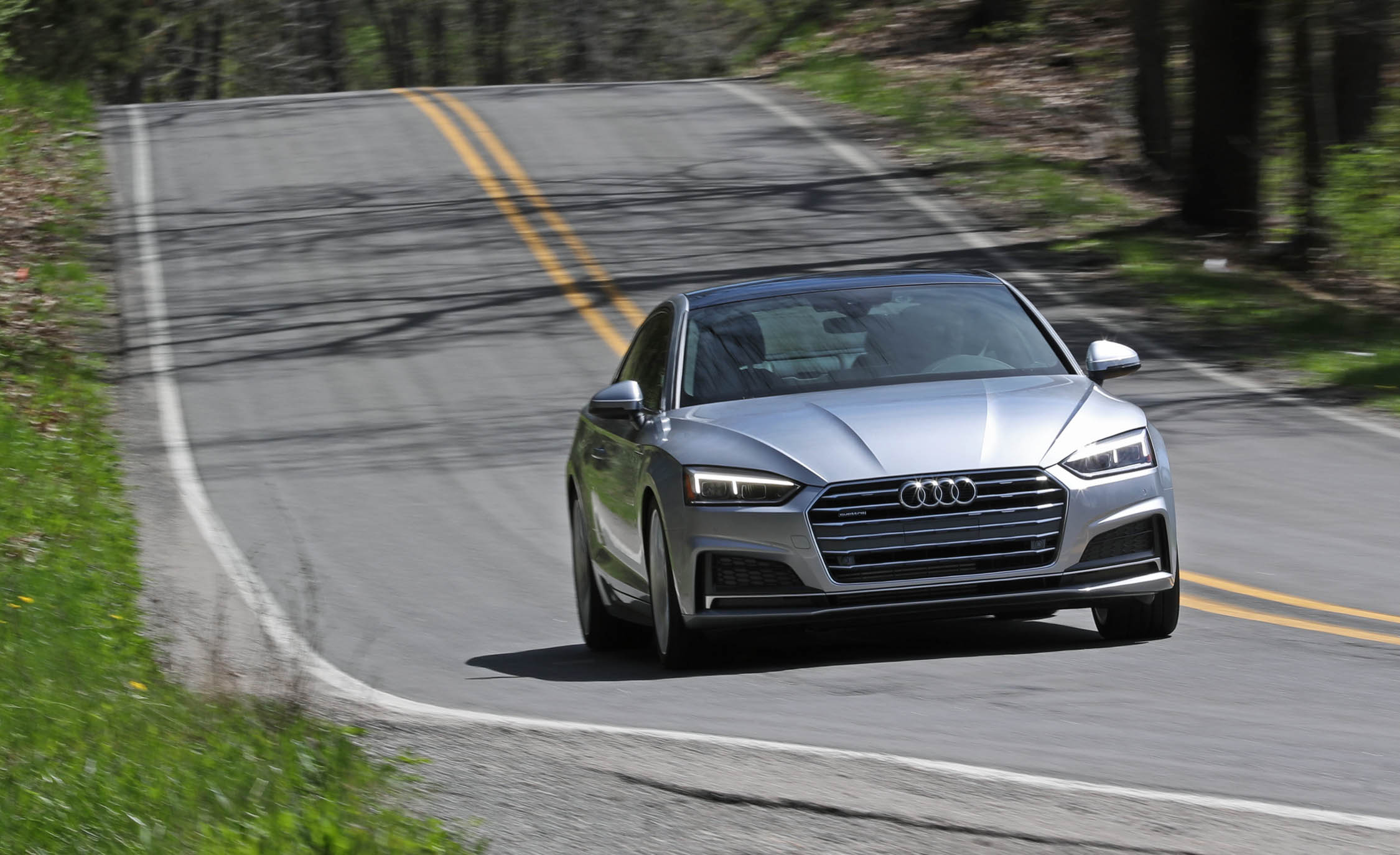 2018 Audi A5 Coupe Test Drive Front View (Photo 44 of 50)