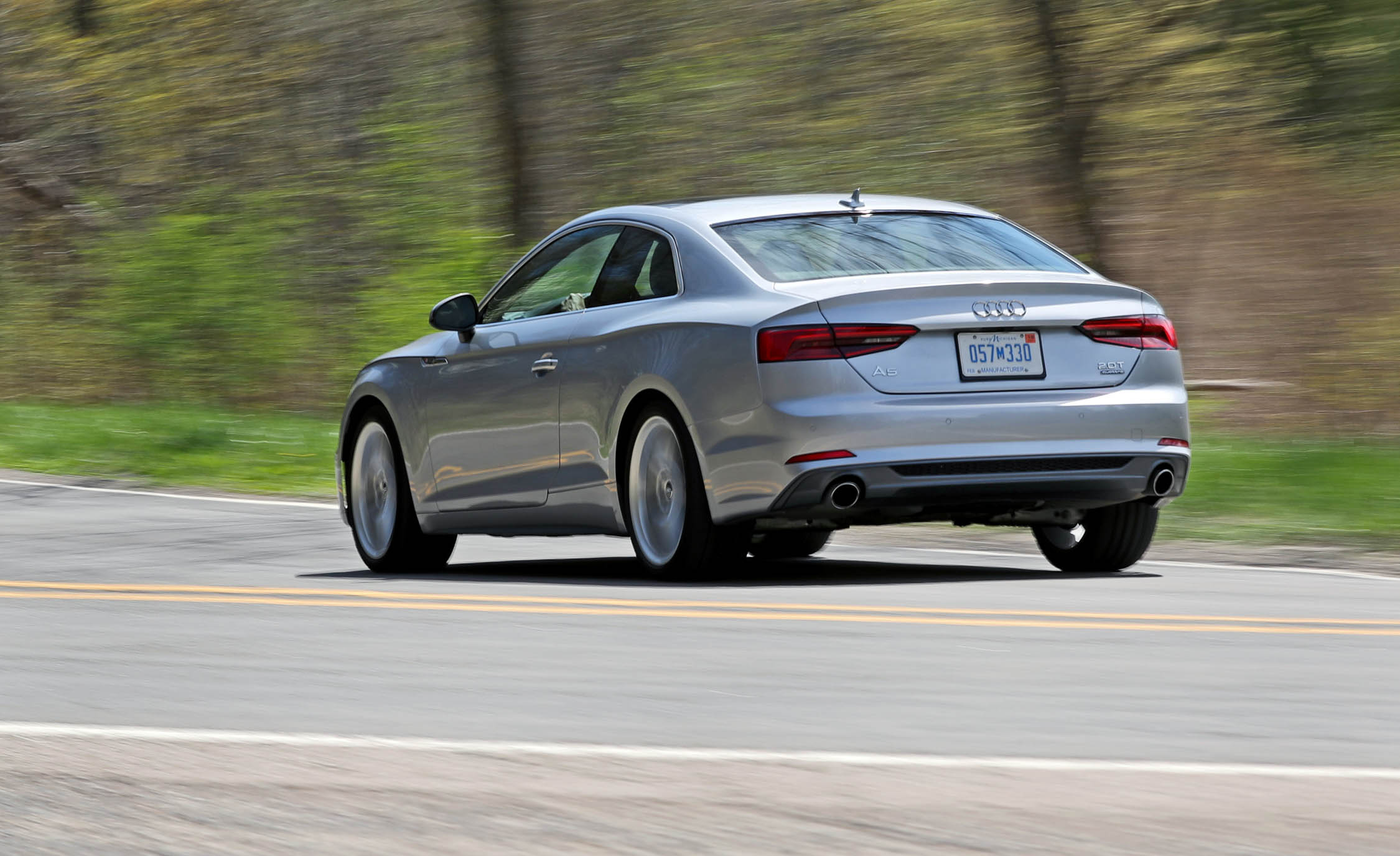 2018 Audi A5 Coupe Test Drive Rear And Side View (Photo 45 of 50)