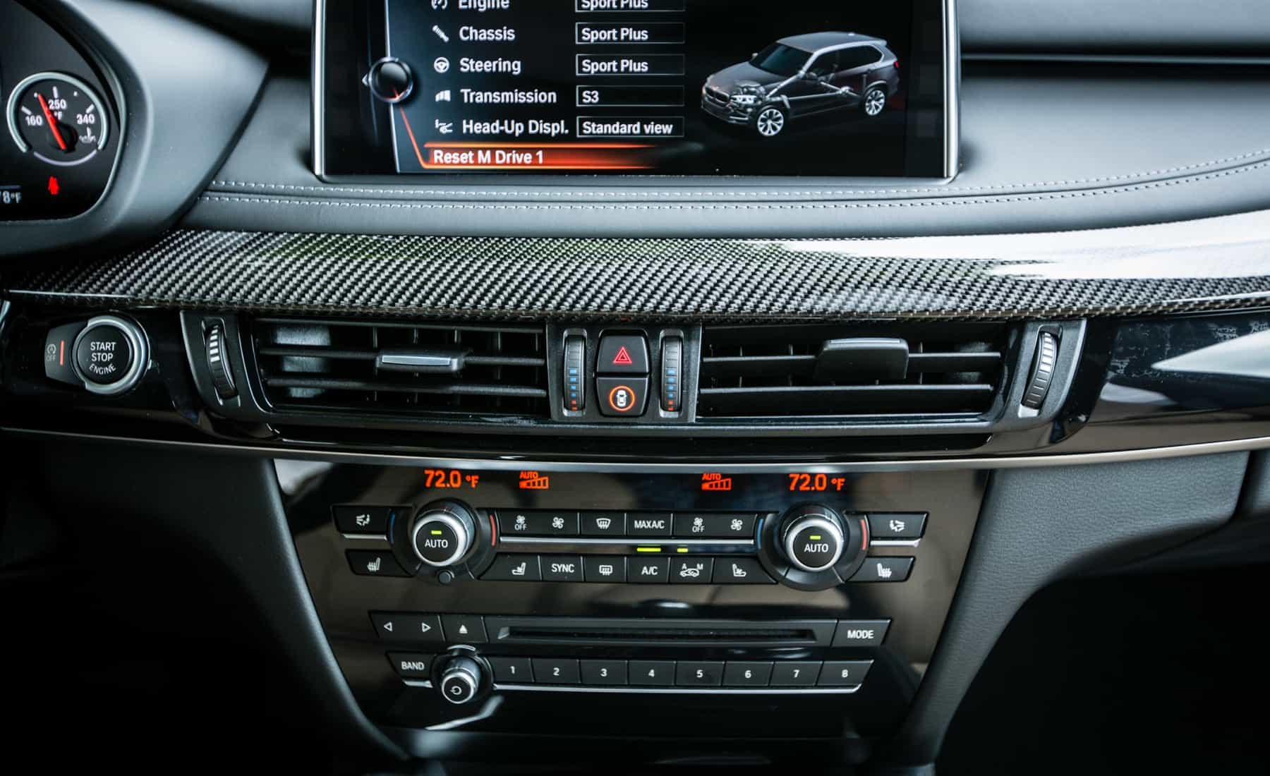 2017 BMW X5 M Interior View Center Screen And Climate Control (Photo 18 of 35)