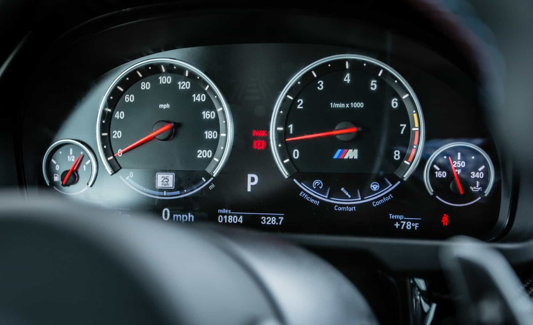 2017 BMW X5 M Interior View Speedometer Instrument Cluster (Photo 26 of 35)