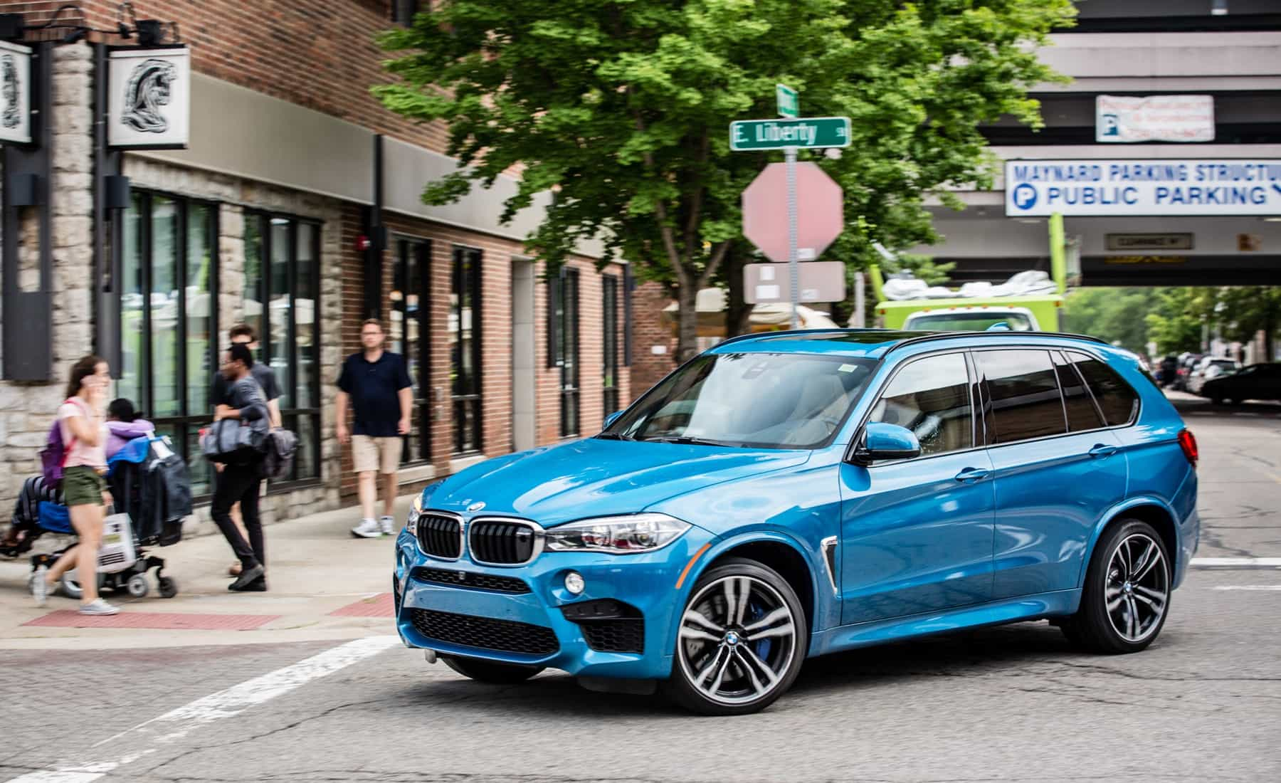 2017 BMW X5 M Test Drive Front And Side View (Photo 31 of 35)