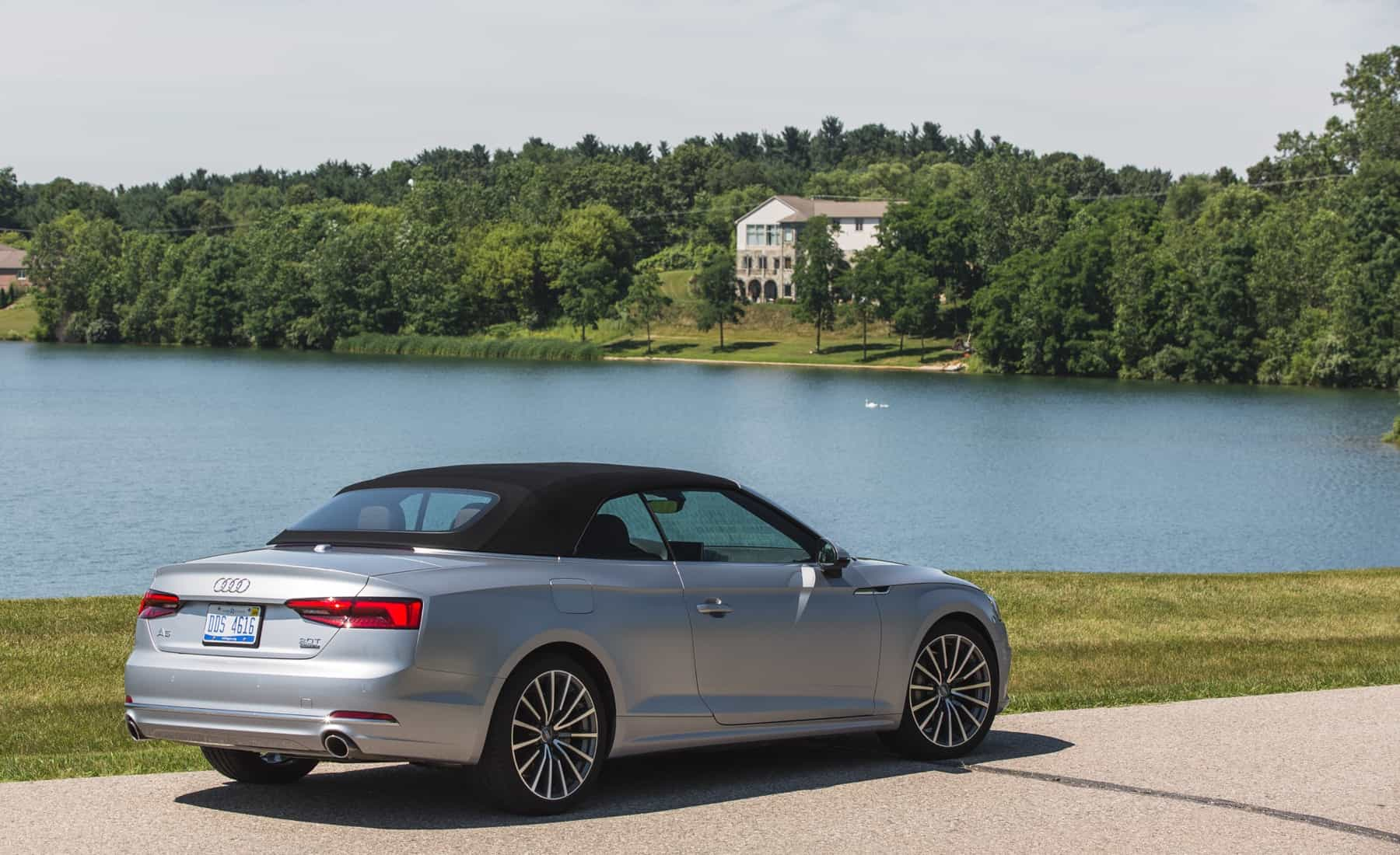 2018 Audi A5 Cabriolet Exterior Roof Close Rear And Side (Photo 44 of 45)