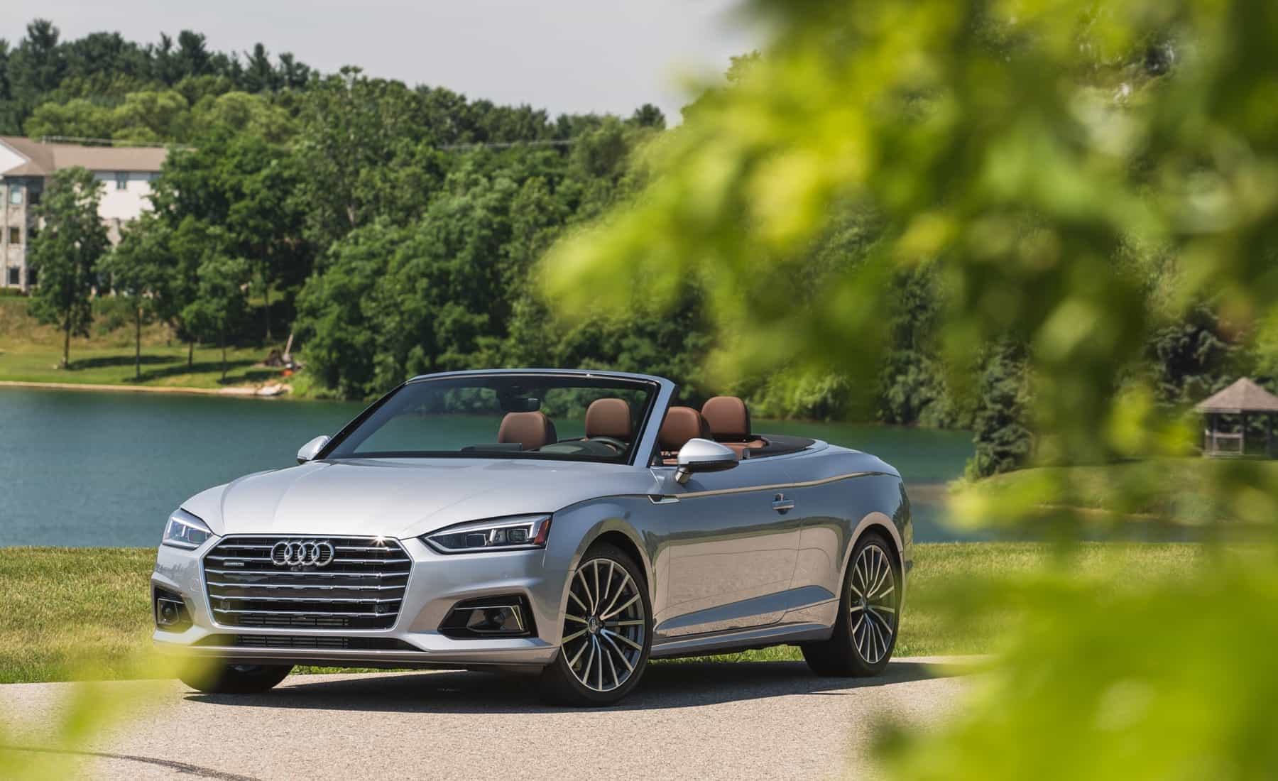 2018 Audi A5 Cabriolet Exterior Roof Open Front And Side (Photo 5 of 45)