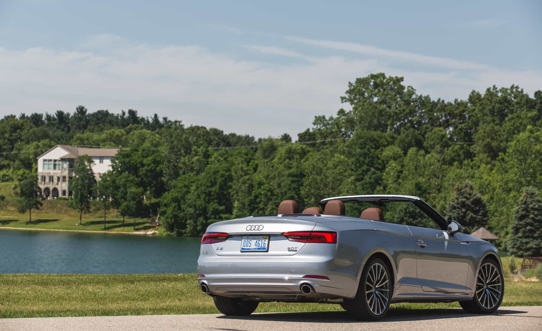 2018 Audi A5 Cabriolet Exterior Roof Open Rear And Side (Photo 7 of 45)