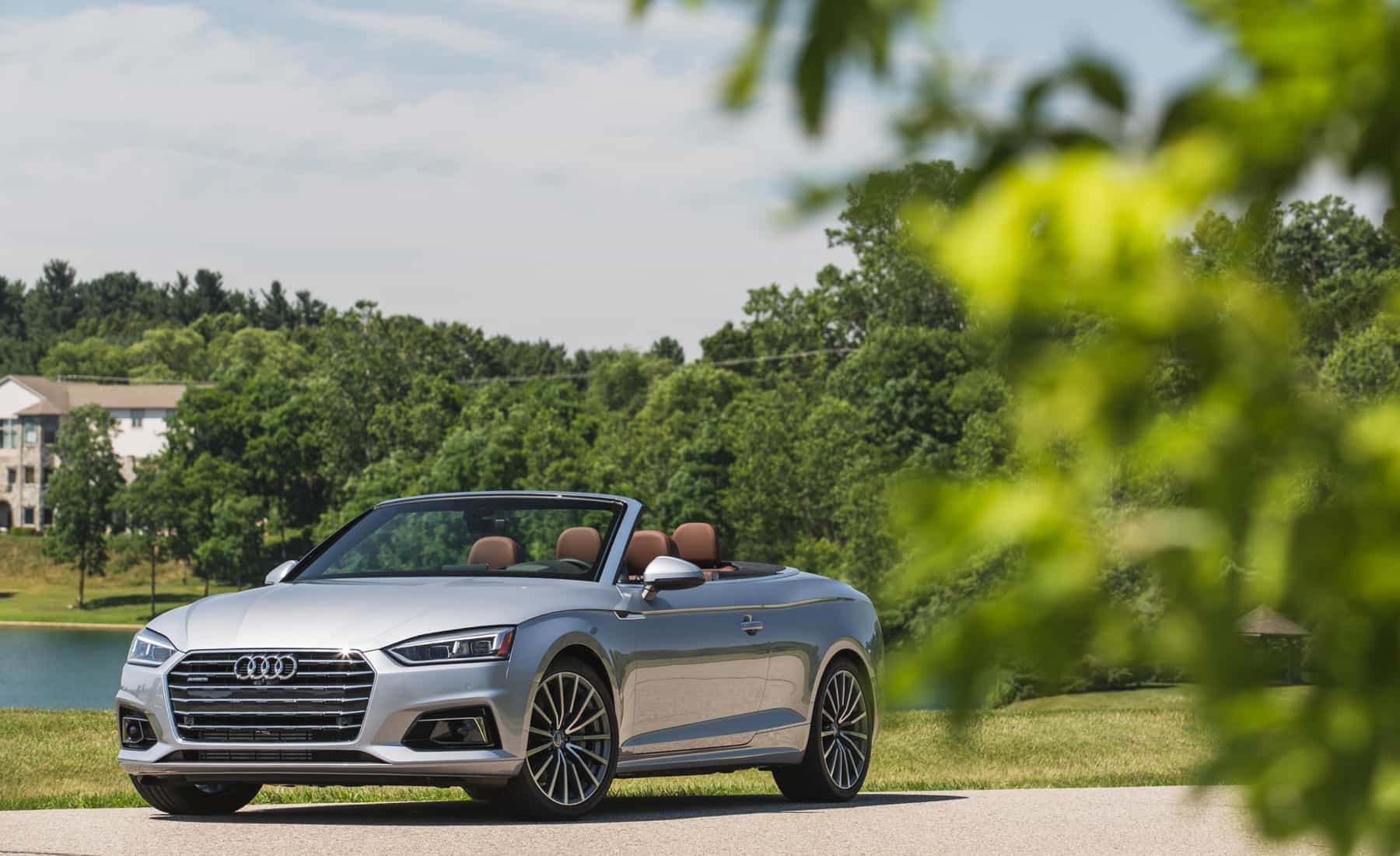 2018 Audi A5 Cabriolet Exterior Roof Open Side And Front (Photo 8 of 45)