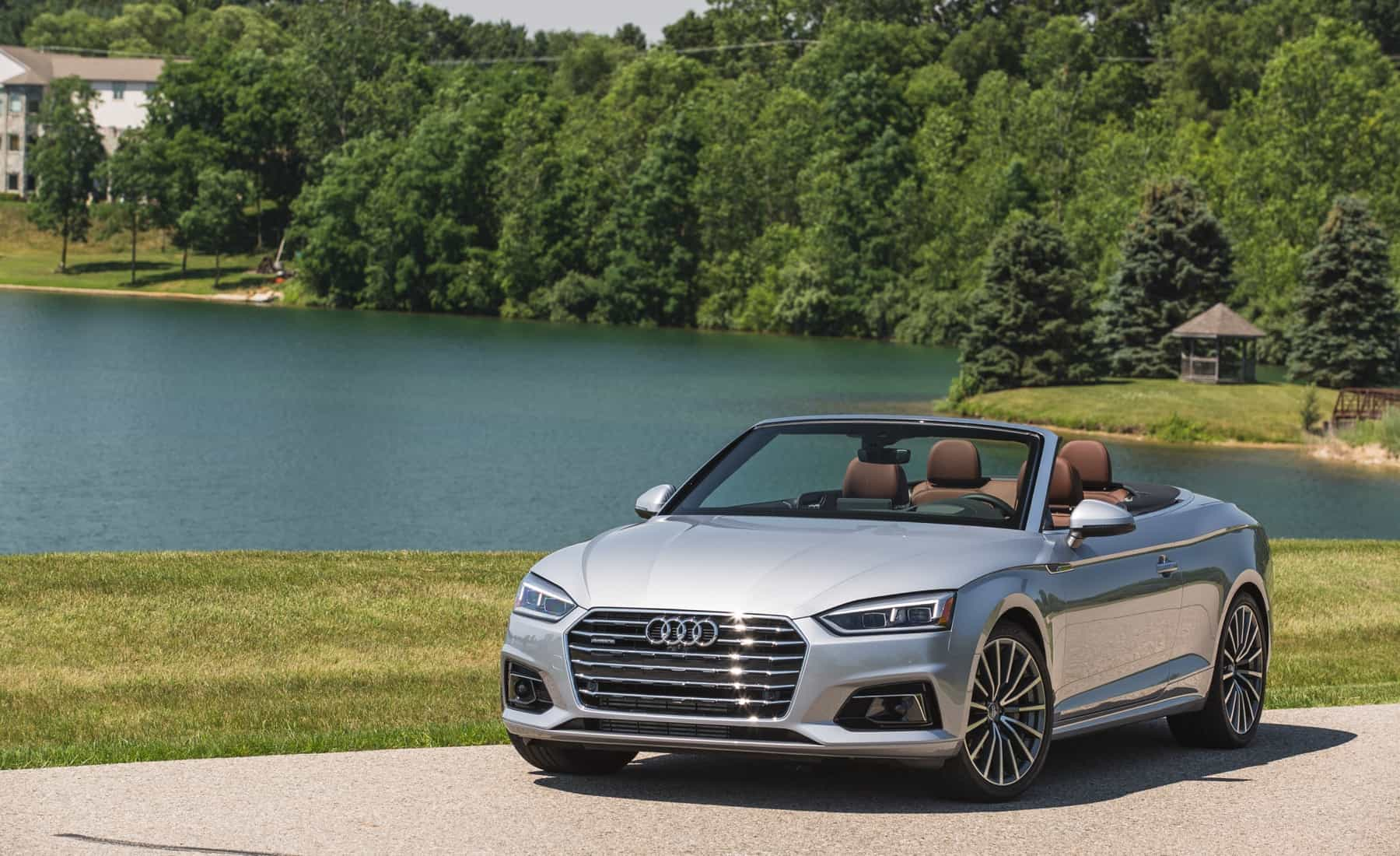2018 Audi A5 Cabriolet Exterior Roof Open (Photo 34 of 45)