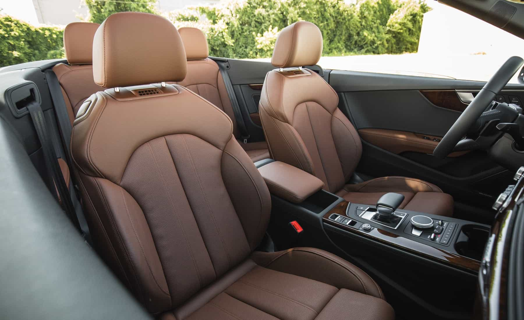 2018 Audi A5 Cabriolet Interior Seats Front (Photo 26 of 45)