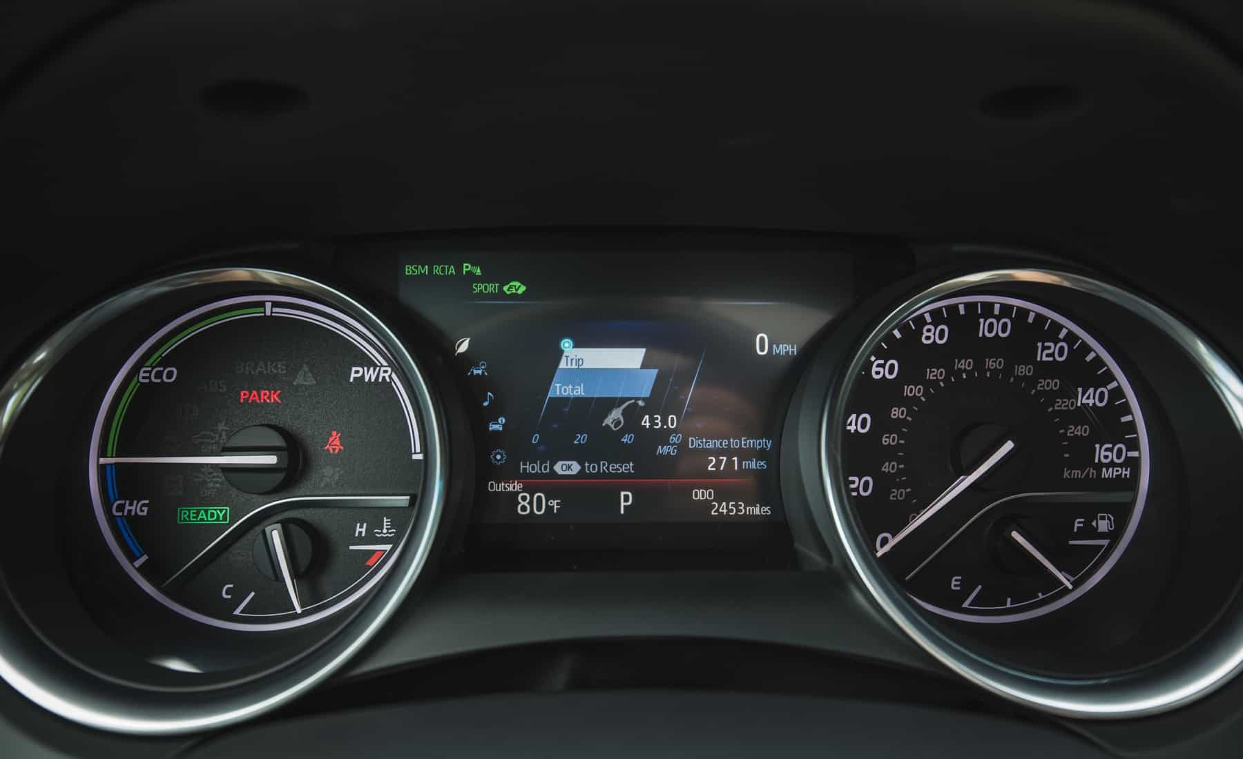2018 Toyota Camry Hybrid XLE Interior View Speedometer (Photo 30 of 41)