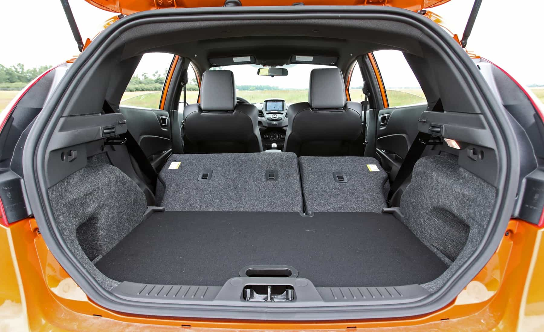 2017 Ford Fiesta ST Interior View Rear Corgo Seats Folded (Photo 31 of 47)