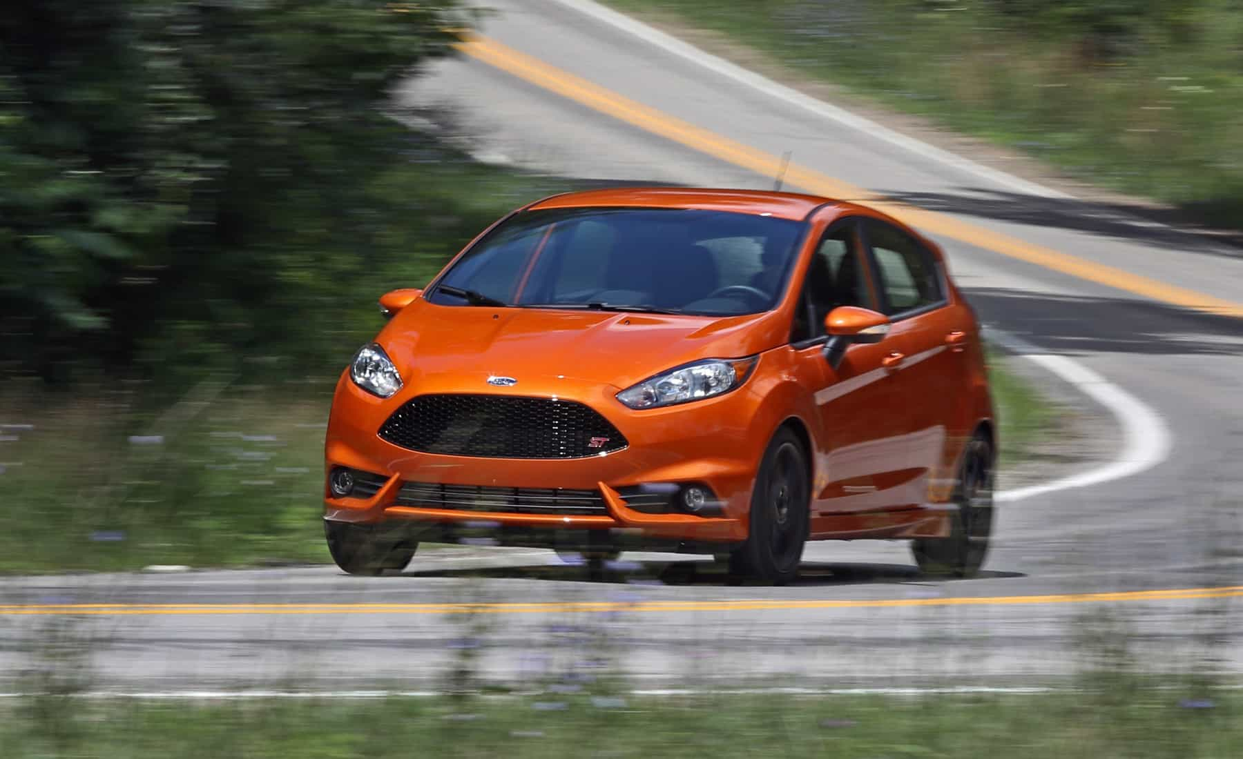 2017 Ford Fiesta ST Test Drive Front And Side View (Photo 36 of 47)