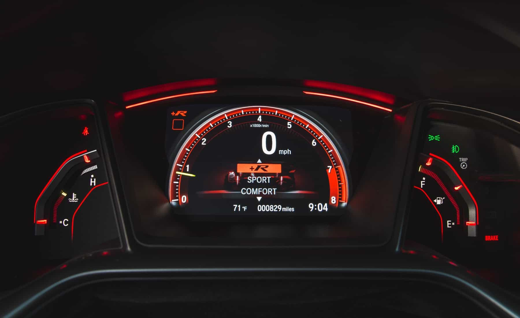 2017 Honda Civic Type R Interior View Instrument Cluster (Photo 17 of 48)