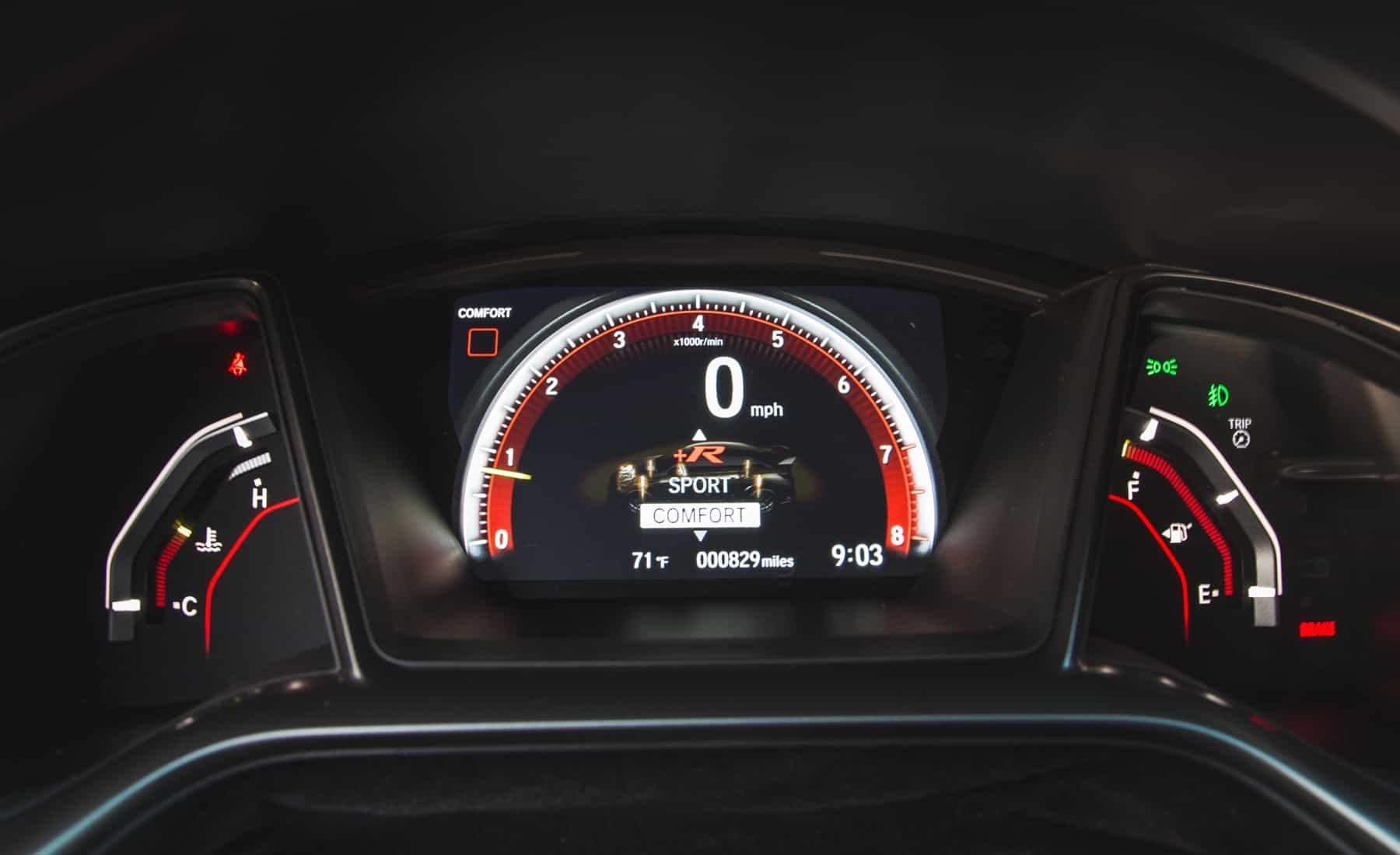 2017 Honda Civic Type R Interior View Speedometer (Photo 18 of 48)