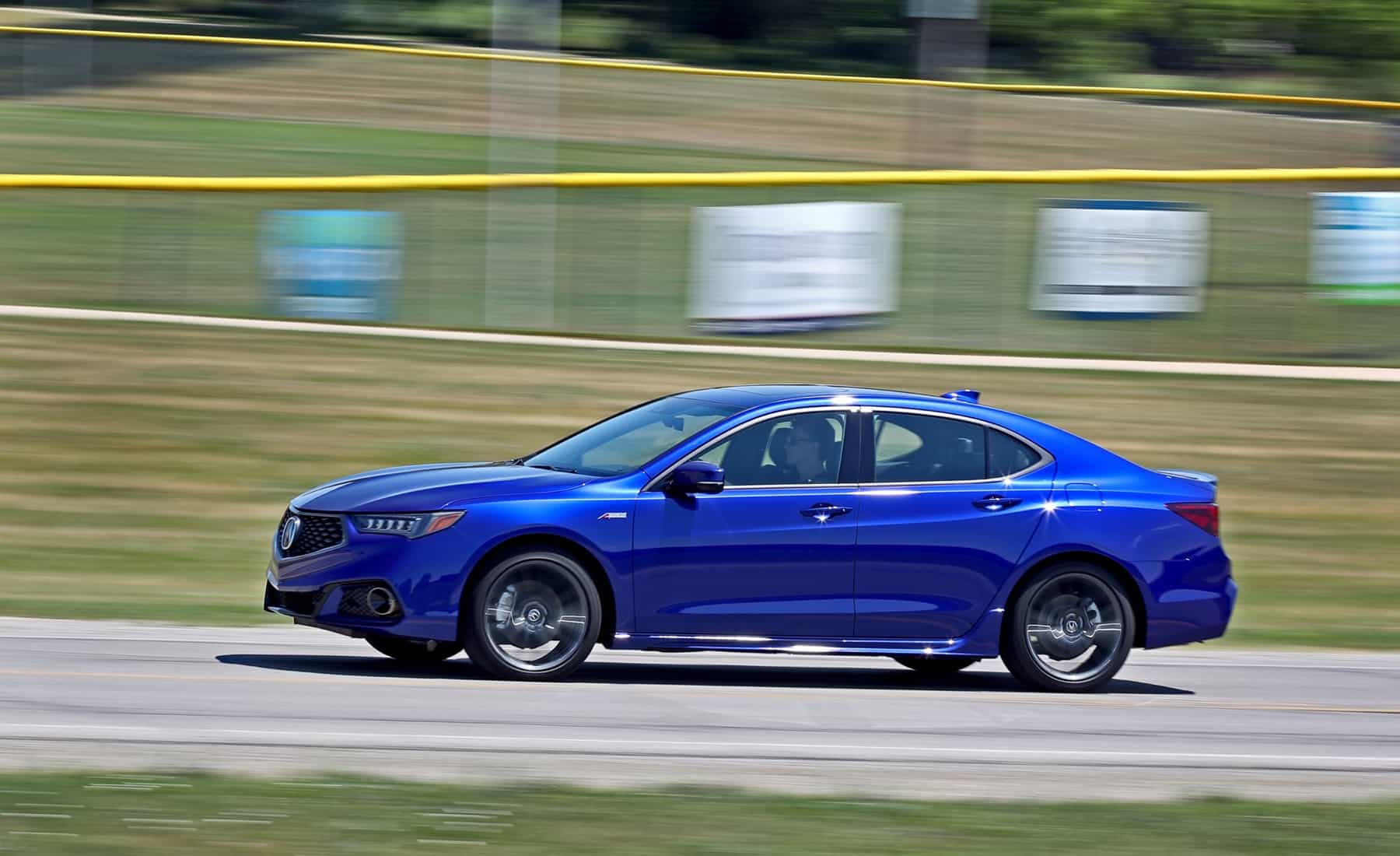 2018 Acura TLX V 6 SH AWD A Spec Test Drive Blue Metallic (View 7 of 46)