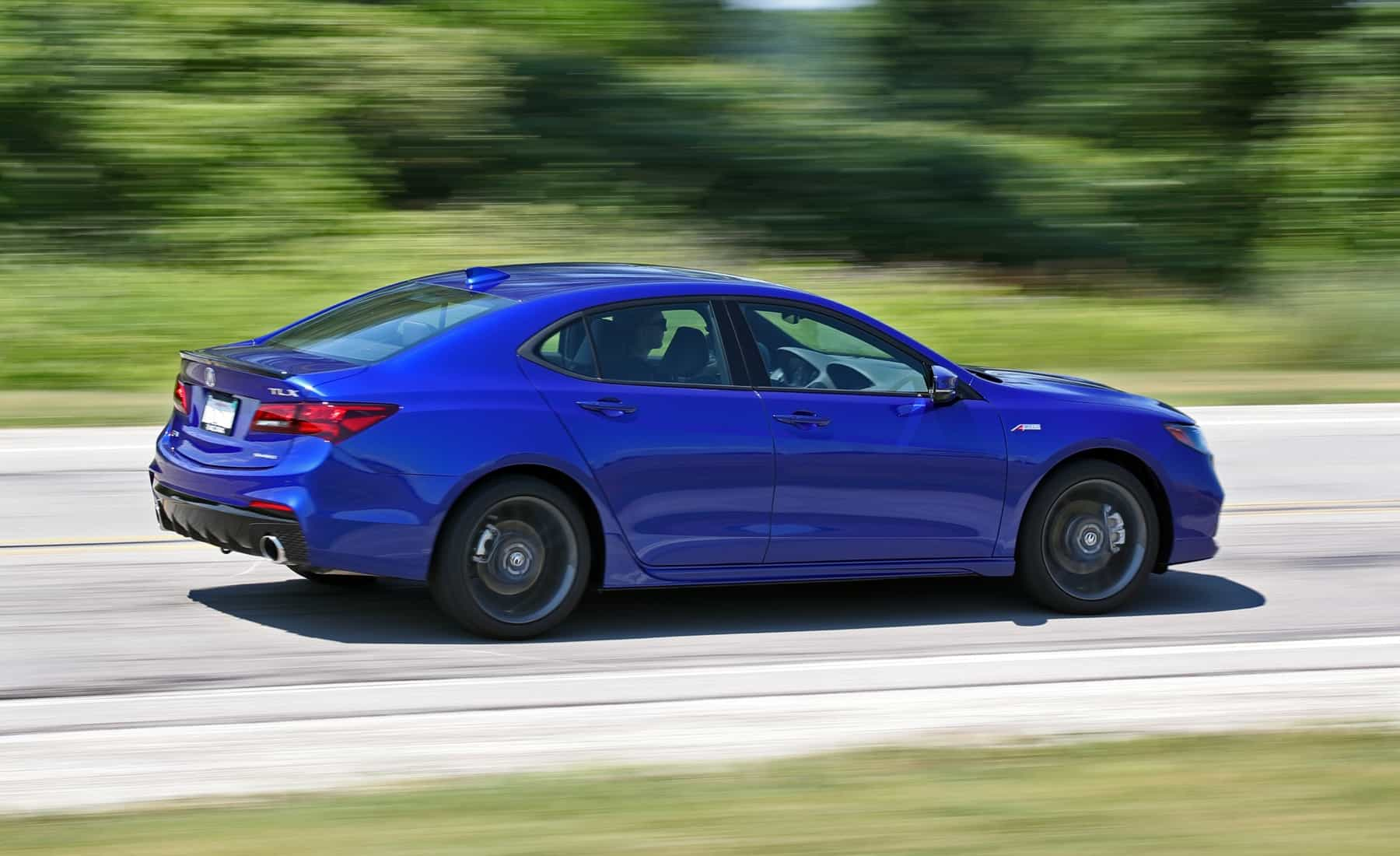 2018 Acura TLX V 6 SH AWD A Spec Test Drive Side And Rear View (Photo 10 of 46)