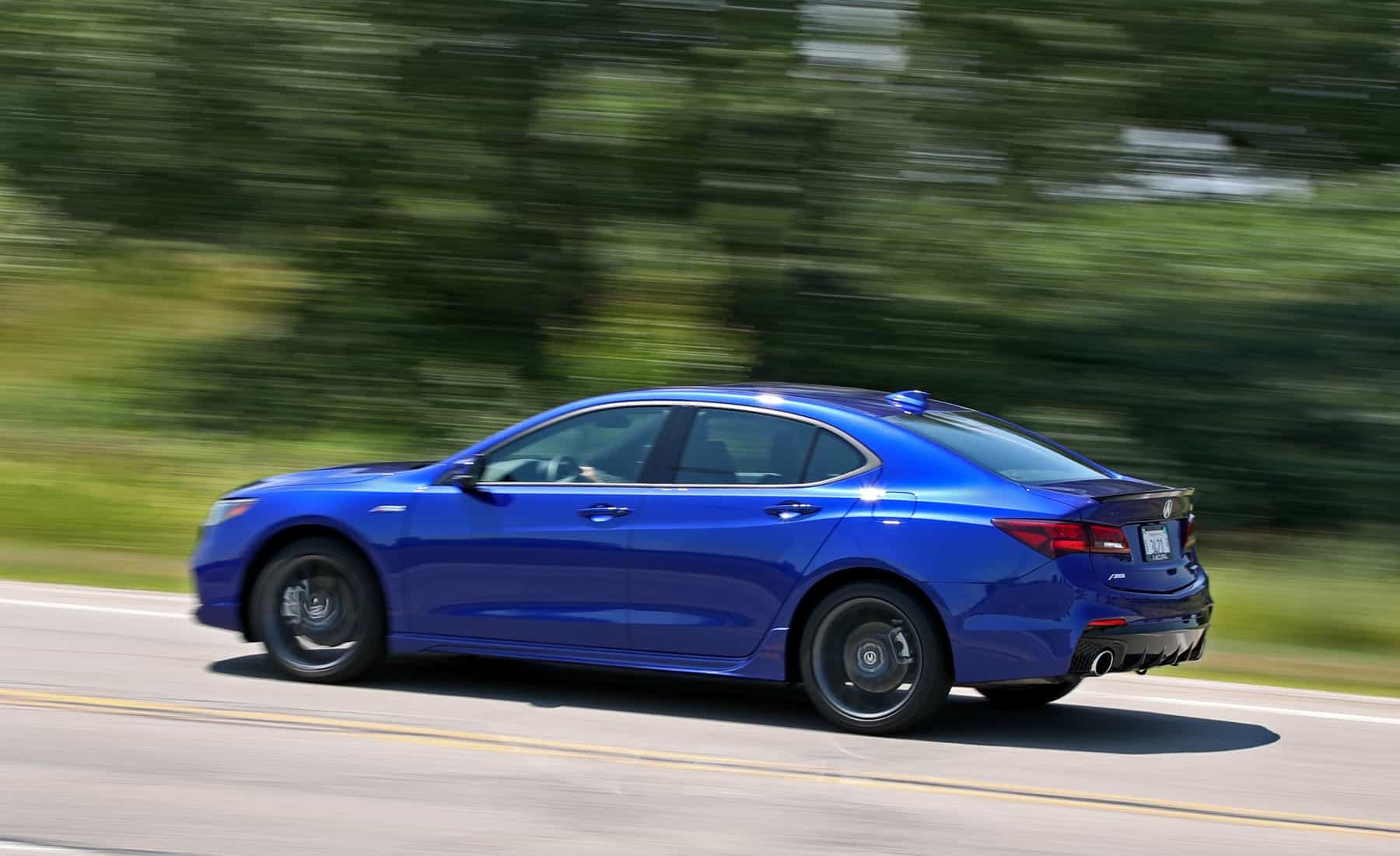 2018 Acura TLX V 6 SH AWD A Spec Test Drive Side And Rear (Photo 11 of 46)