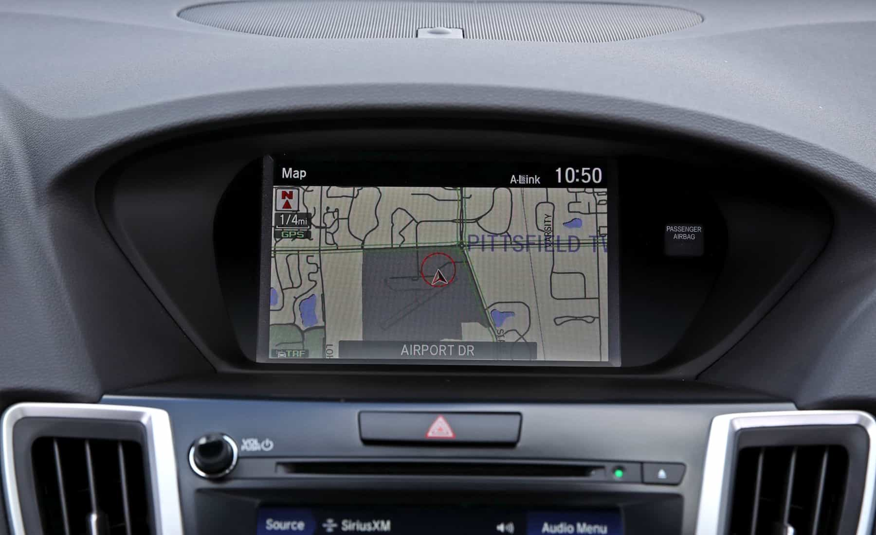 2018 Acura TLX Interior View Gps Maps (View 13 of 46)