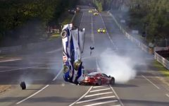 Massive Crash at 24 Hours Le Mans